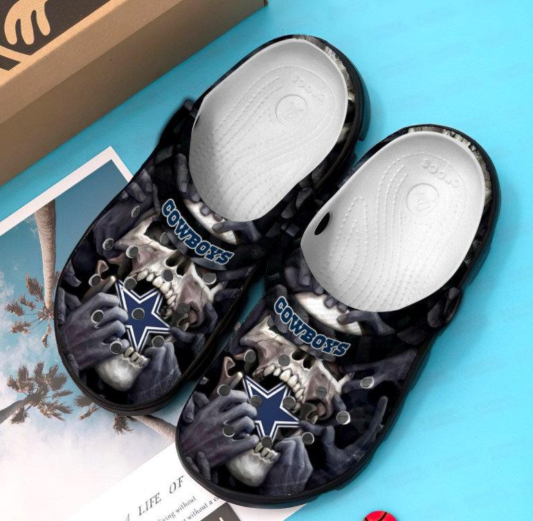 Dallas Cowboys Skull Crocs Clog Shoes