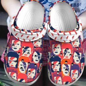 David Bowie Crocs Clog Shoes