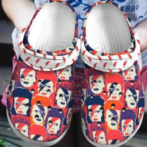 David Bowie Crocs Clog Shoes