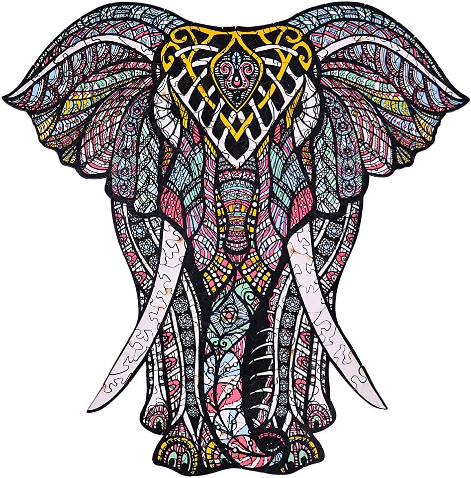 Decorative Elephant Jigsaw Puzzle