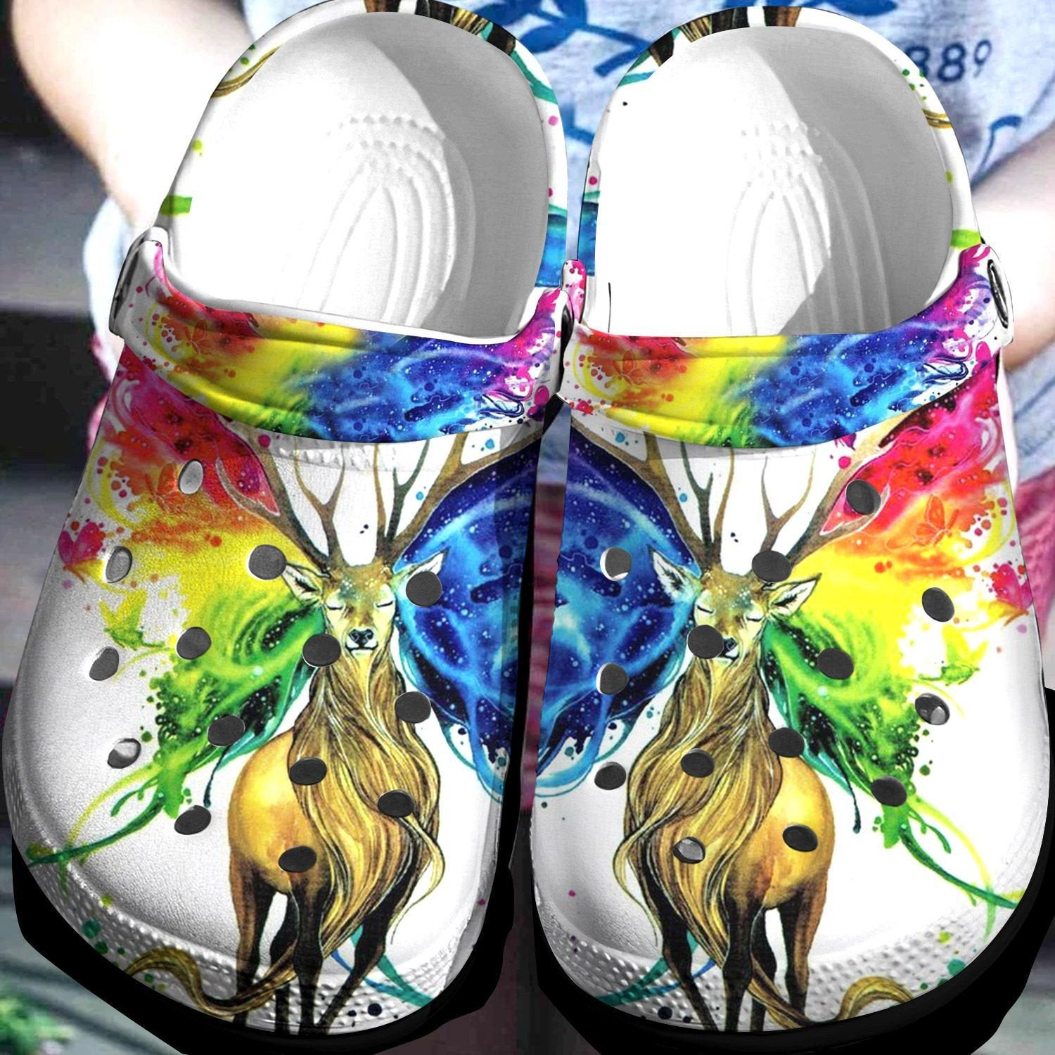 Deer Color Collection Crocs Clog Shoes