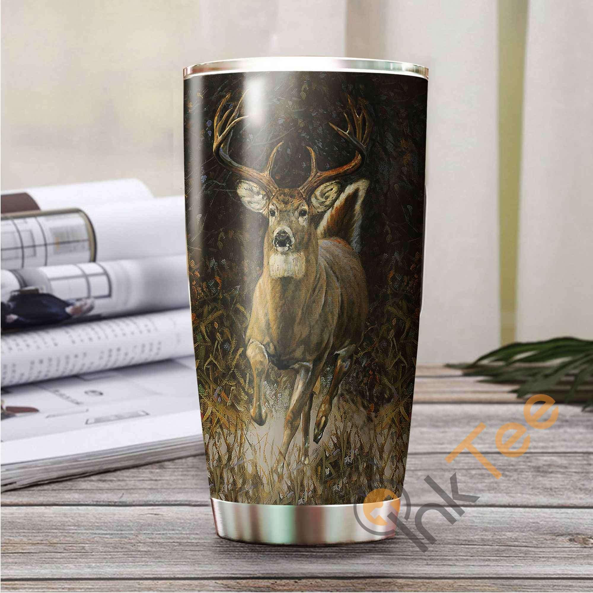 Deer Hunting Art Stainless Steel Tumbler