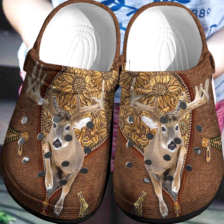 Deer Hunting Crocs Clog Shoes