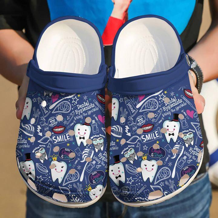 Dental Hygienist Bring The Sparkle Crocs Clog Shoes