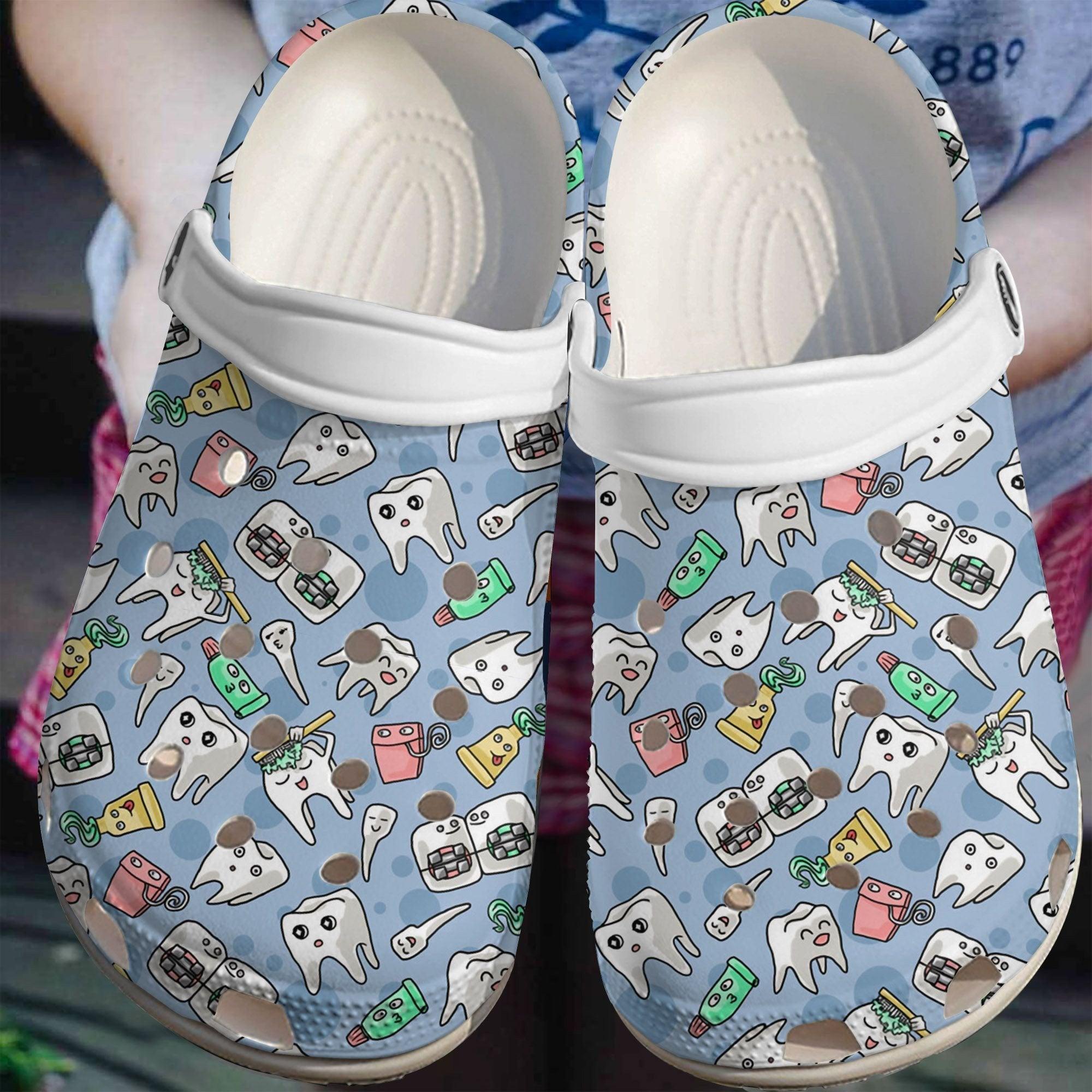 Dentist Cute Tooth Crocs Clog Shoes