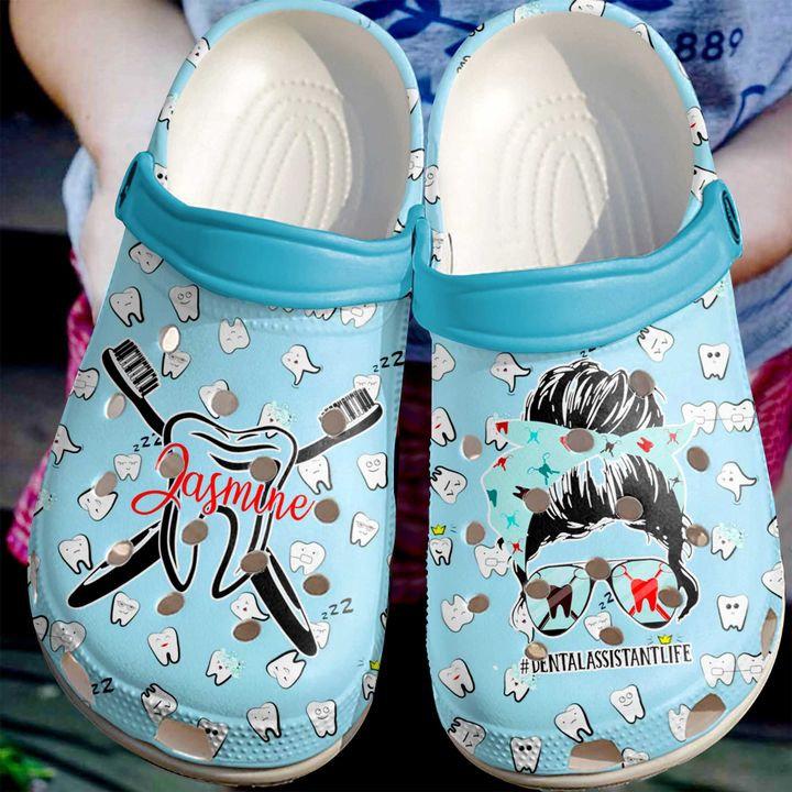 Dentist Personalized Dental Assistant Life Crocs Clog Shoes