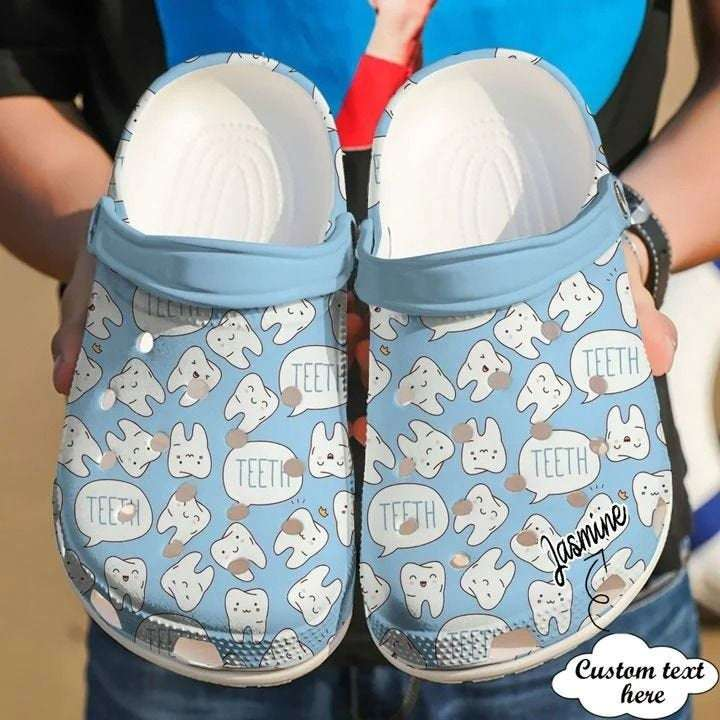 Dentist Personalized Happy Teeth Crocs Clog Shoes