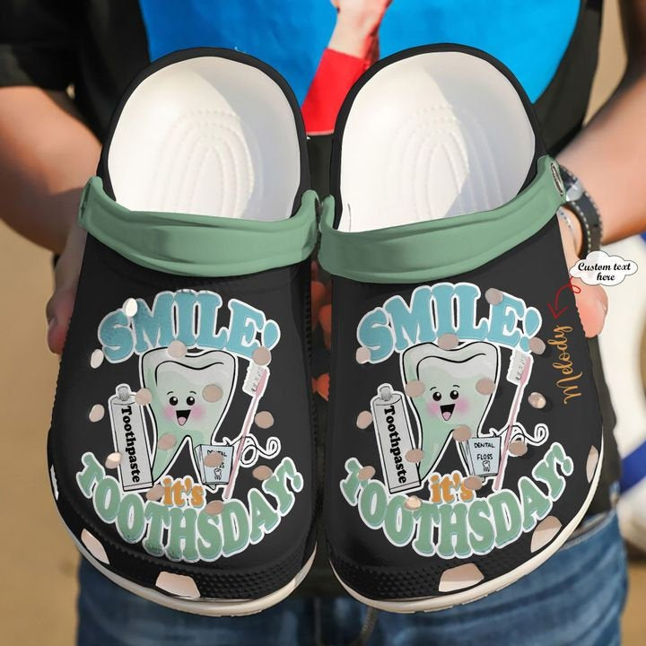 Dentist Personalized It's Tooth Day Crocs Clog Shoes