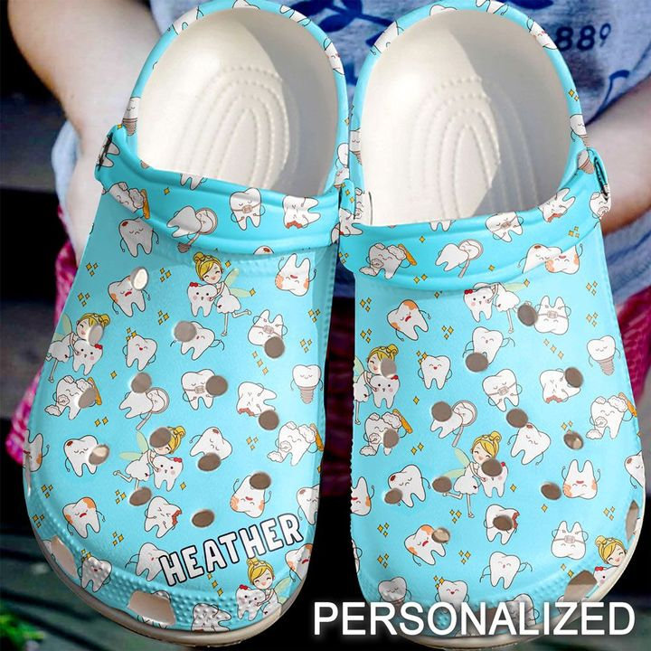 Dentist Personalized Tooth Fairy Crocs Clog Shoes