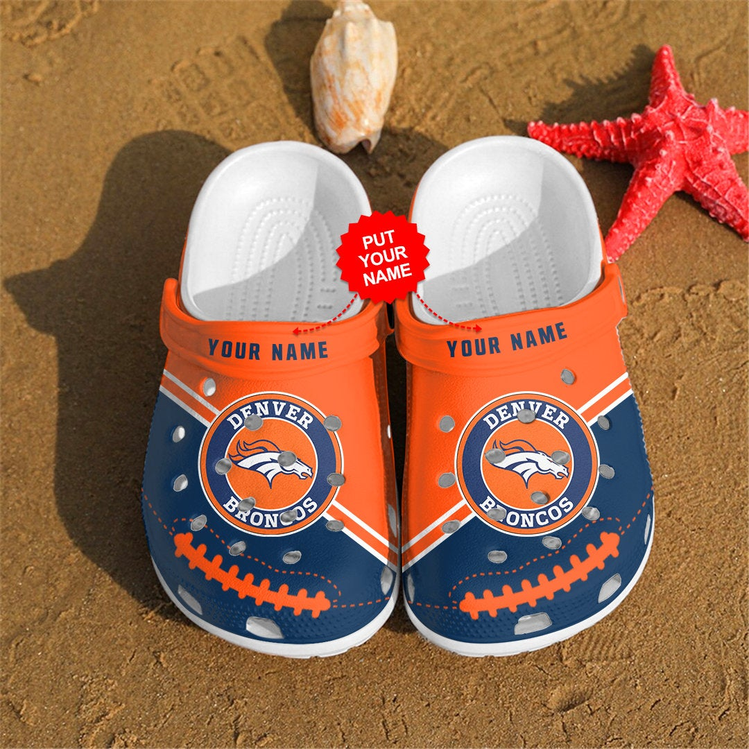 Denver Broncos Personalized Custom For Nfl Fans Crocs Clog Shoes