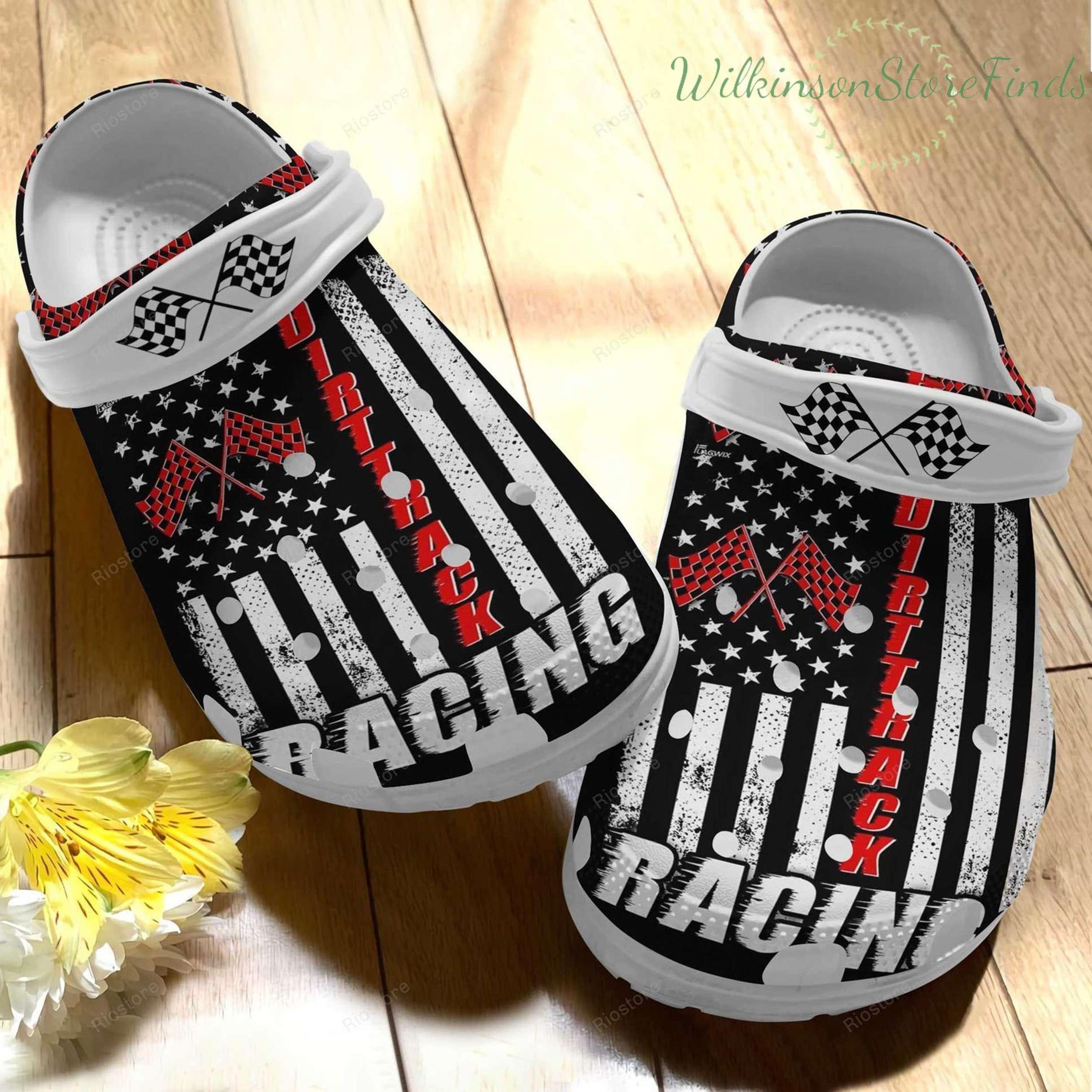 Dirt Track Racing Lover Crocs Clog Shoes