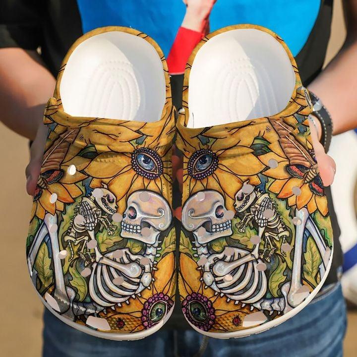 Dog Skeleton Crocs Clog Shoes