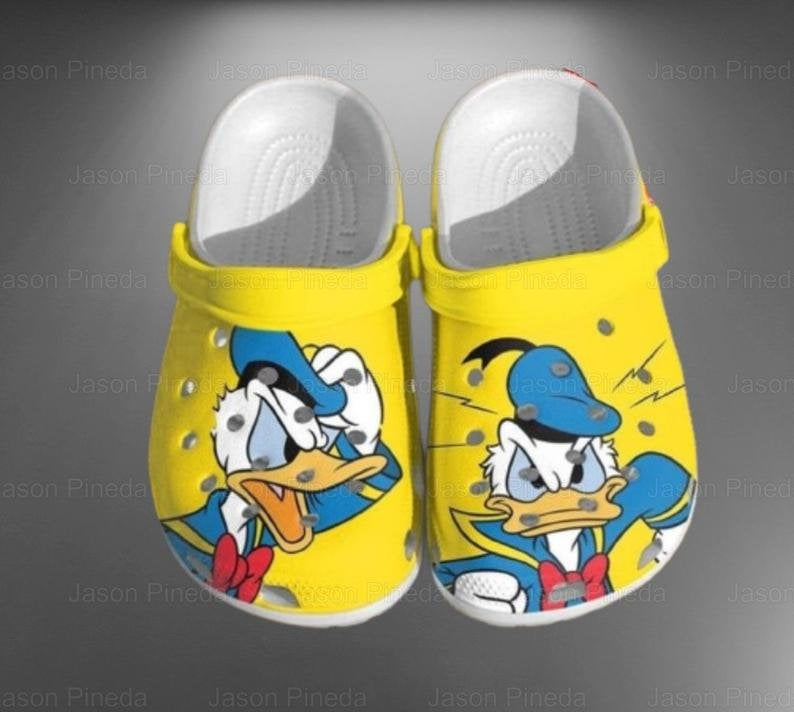 Donald Duck Crocs 3d Comfortable For Mens And Womens Classic Water Crocs Clog Shoes