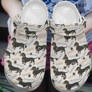 Doxie Dachshund Crocs Clog Shoes