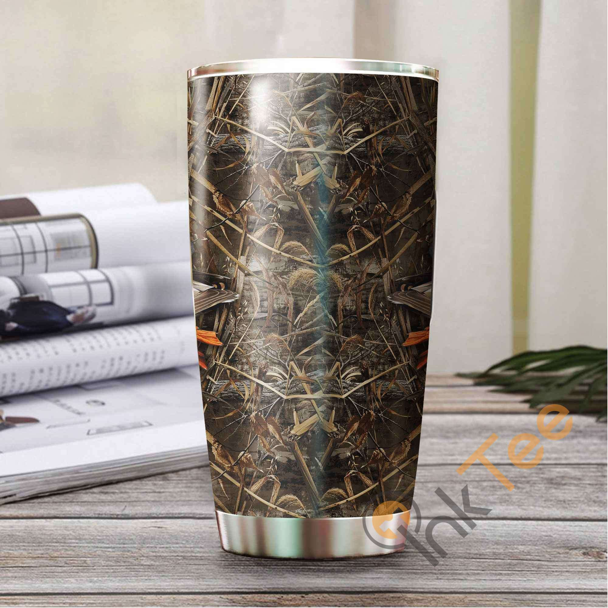 Duck Hunting Dog Camo Stainless Steel Tumbler