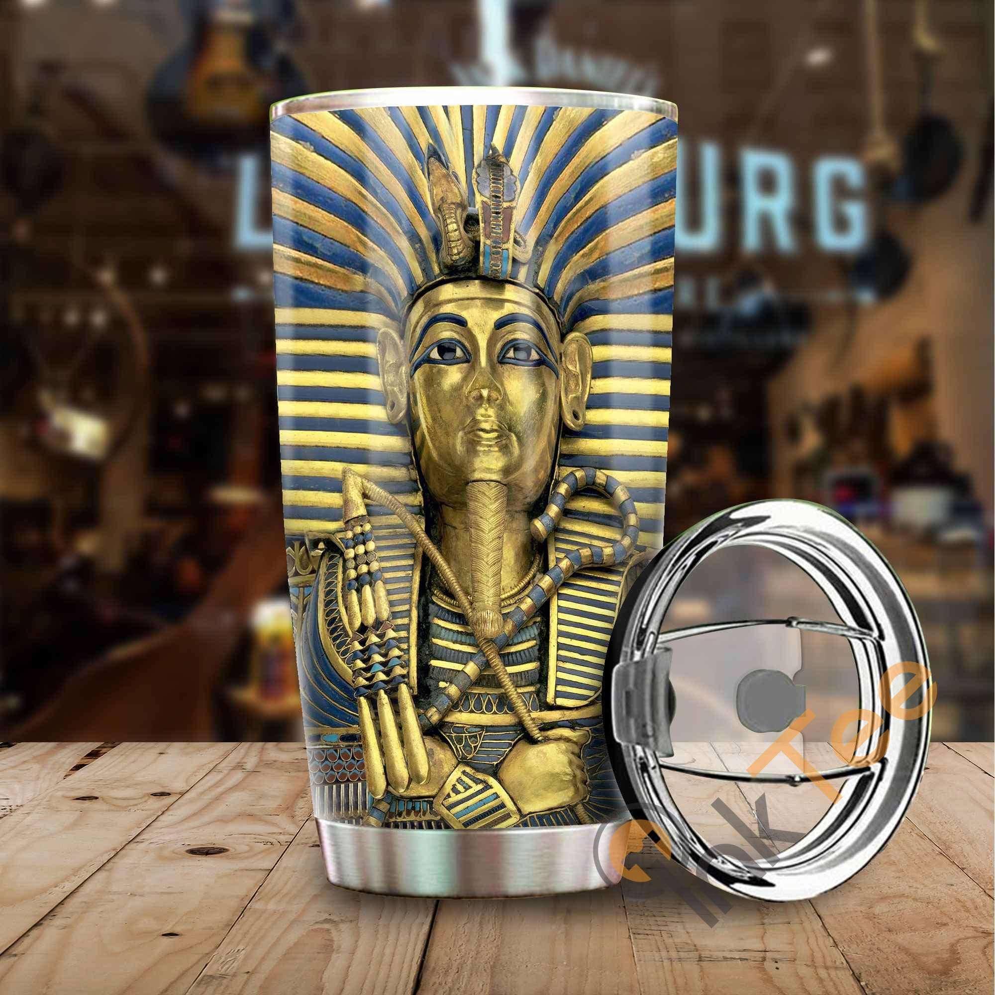 Egyptian King Tutankhamun Stainless Steel Tumbler