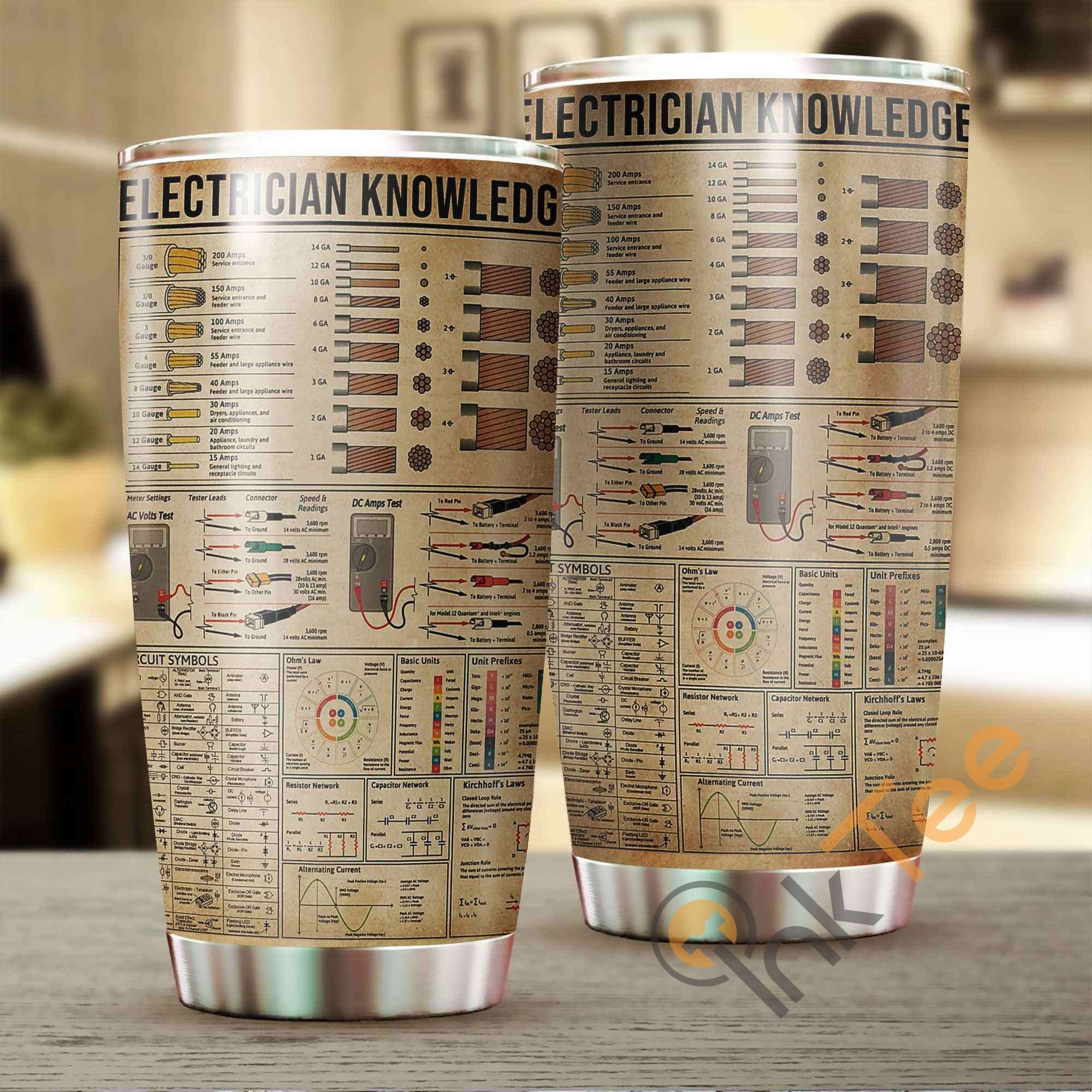 Electrician Knowledge Stainless Steel Tumbler