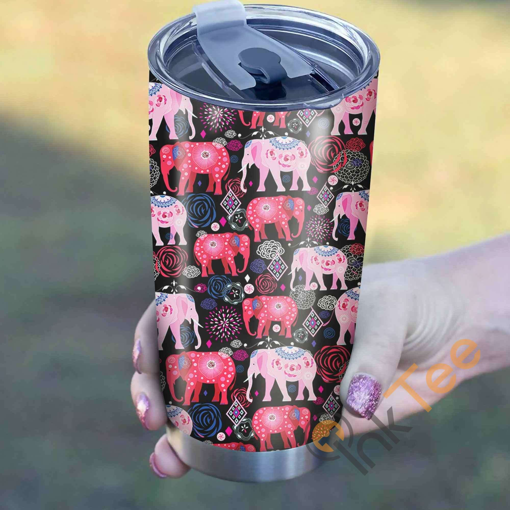 Elephant Pattern Perfect Gift Stainless Steel Tumbler