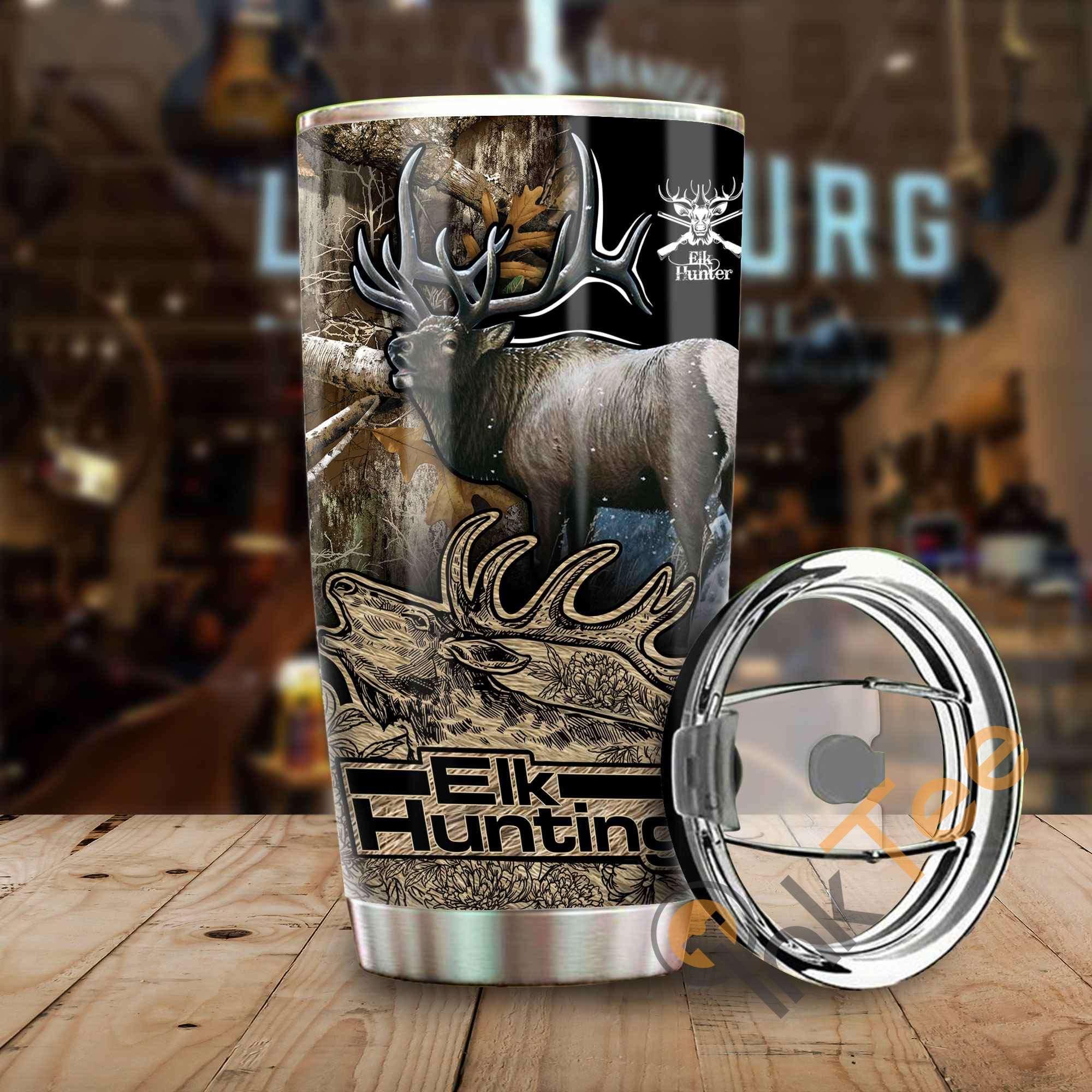 Elk Hunting Amazon Best Seller Sku 3697 Stainless Steel Tumbler