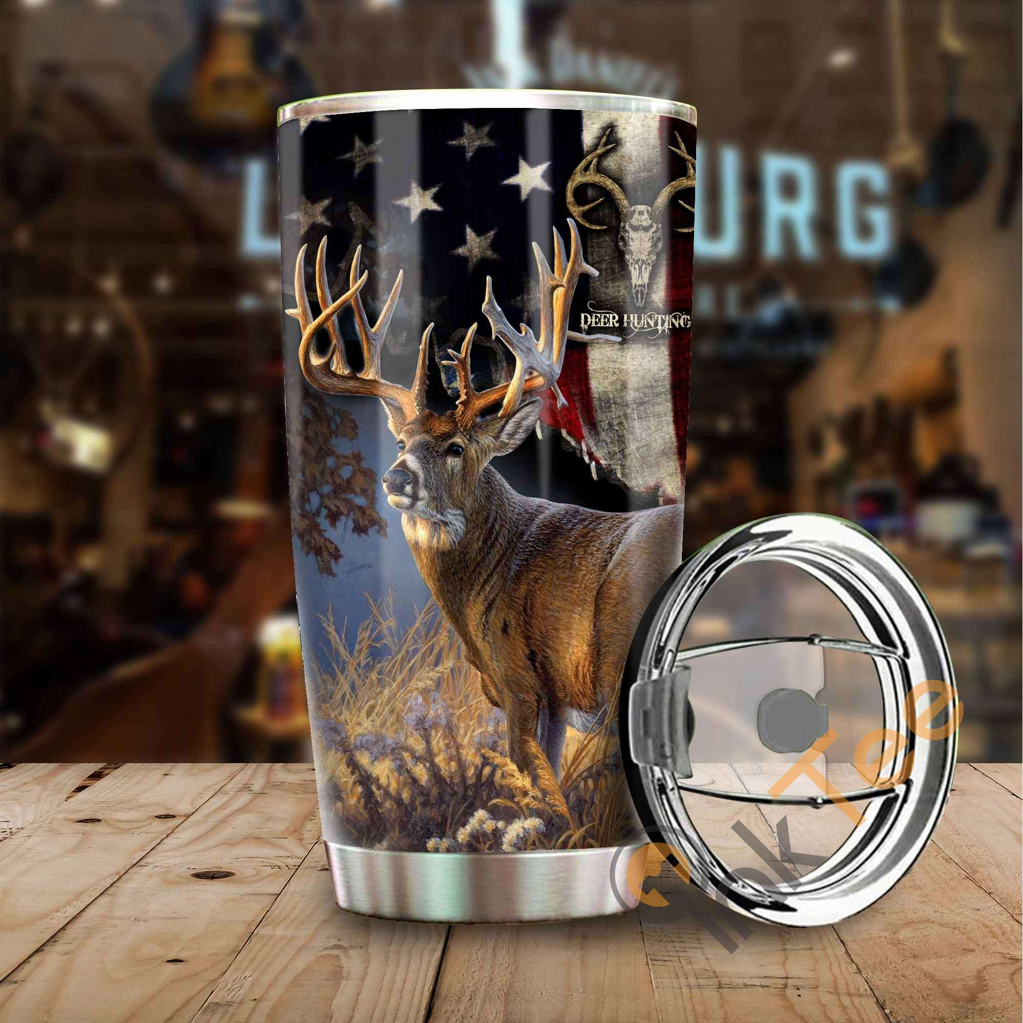 Elk Hunting Camo Stainless Steel Tumbler