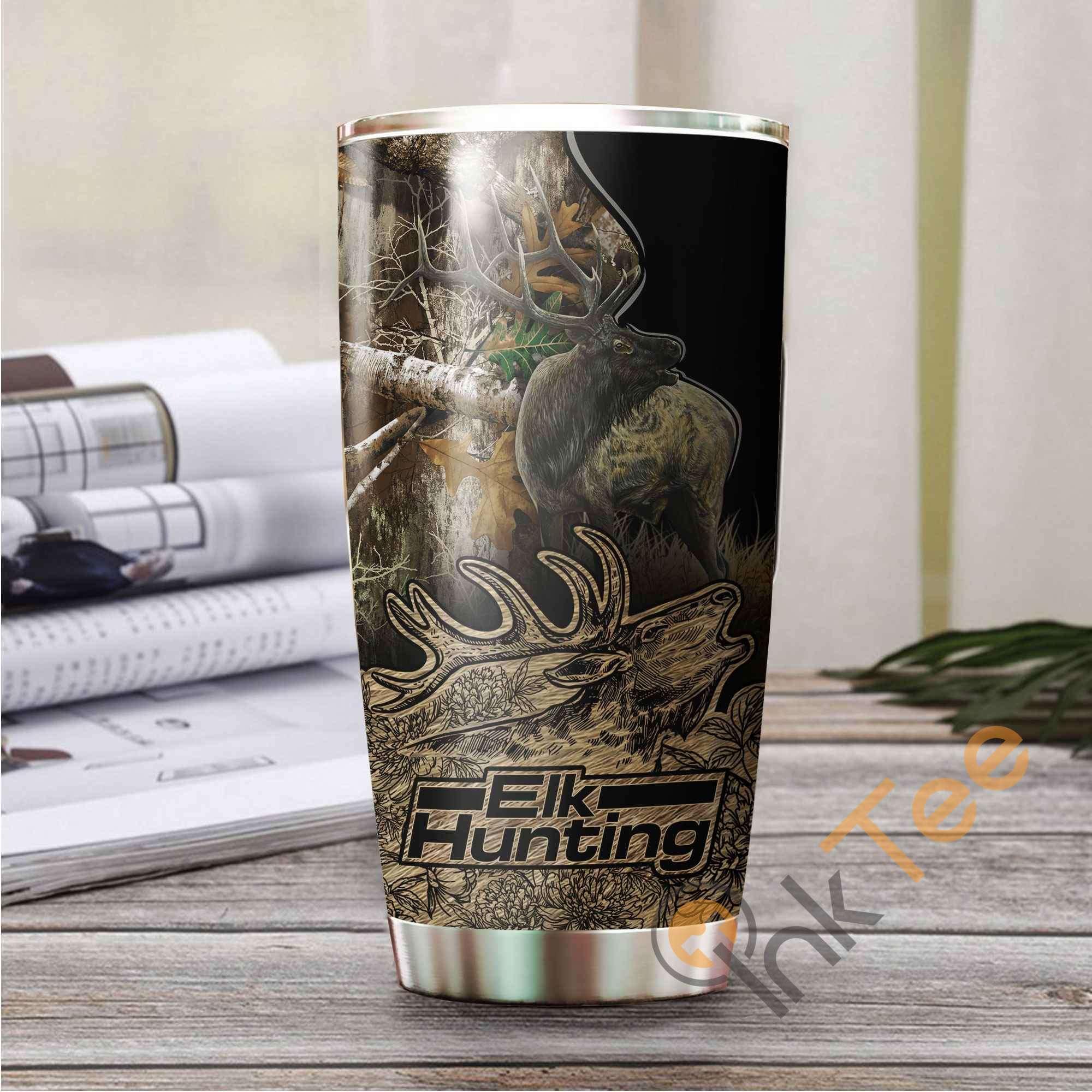 Elk Hunting Stainless Steel Tumbler