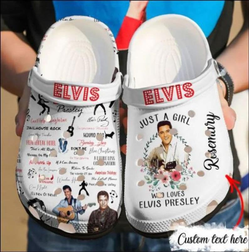 Elvis Comfortable For Mens And Womens Classic Water Crocs Clog Shoes