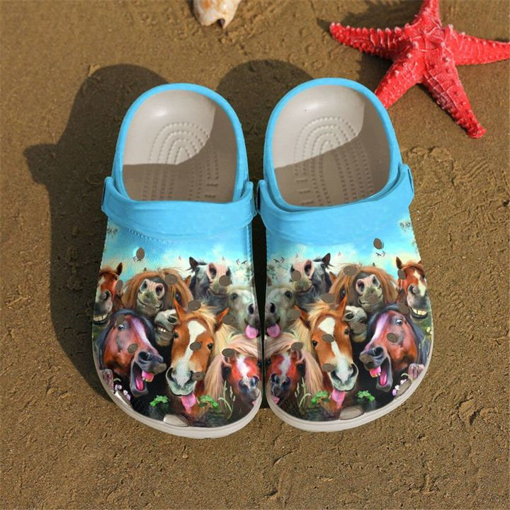 Farmer Funny Horses Crocs Clog Shoes