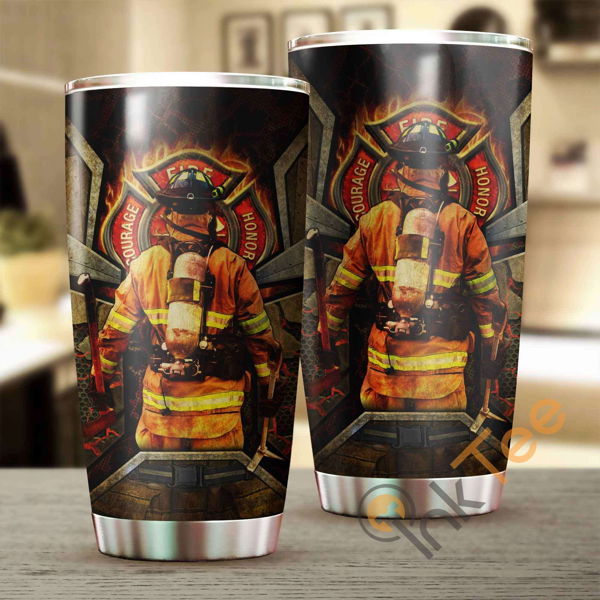 Fire Fighter Stainless Steel Tumbler