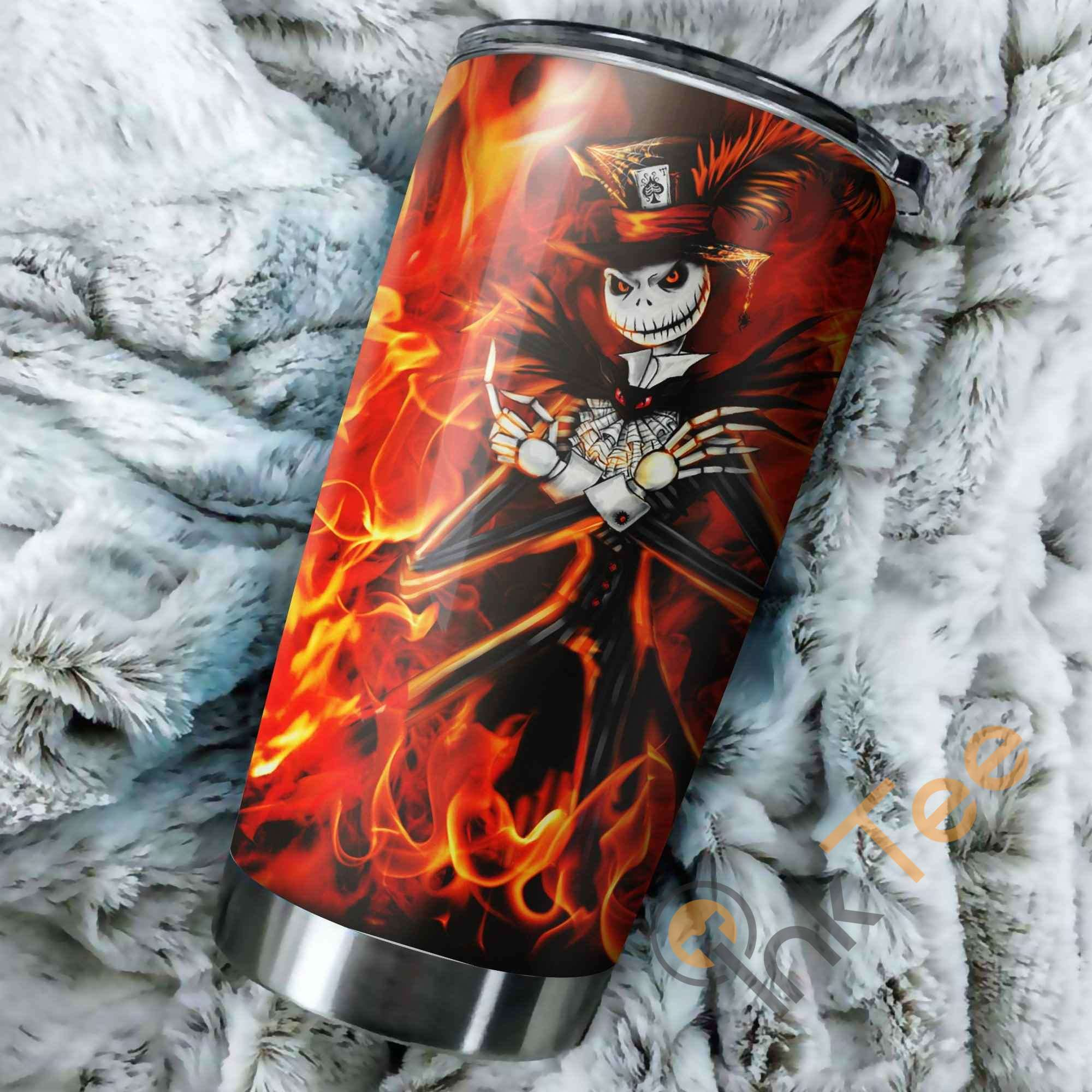 Fire Jack Skellington Nightmare Before Christmas Perfect Gift Stainless Steel Tumbler