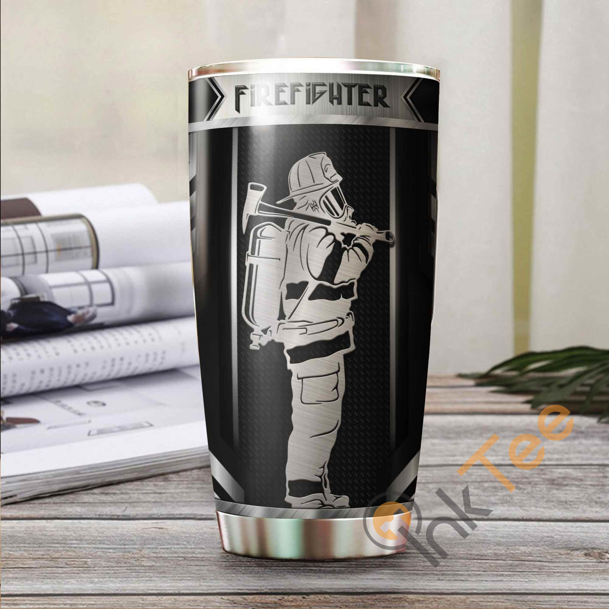 Firefighter Metal Amazon Best Seller Sku 3644 Stainless Steel Tumbler