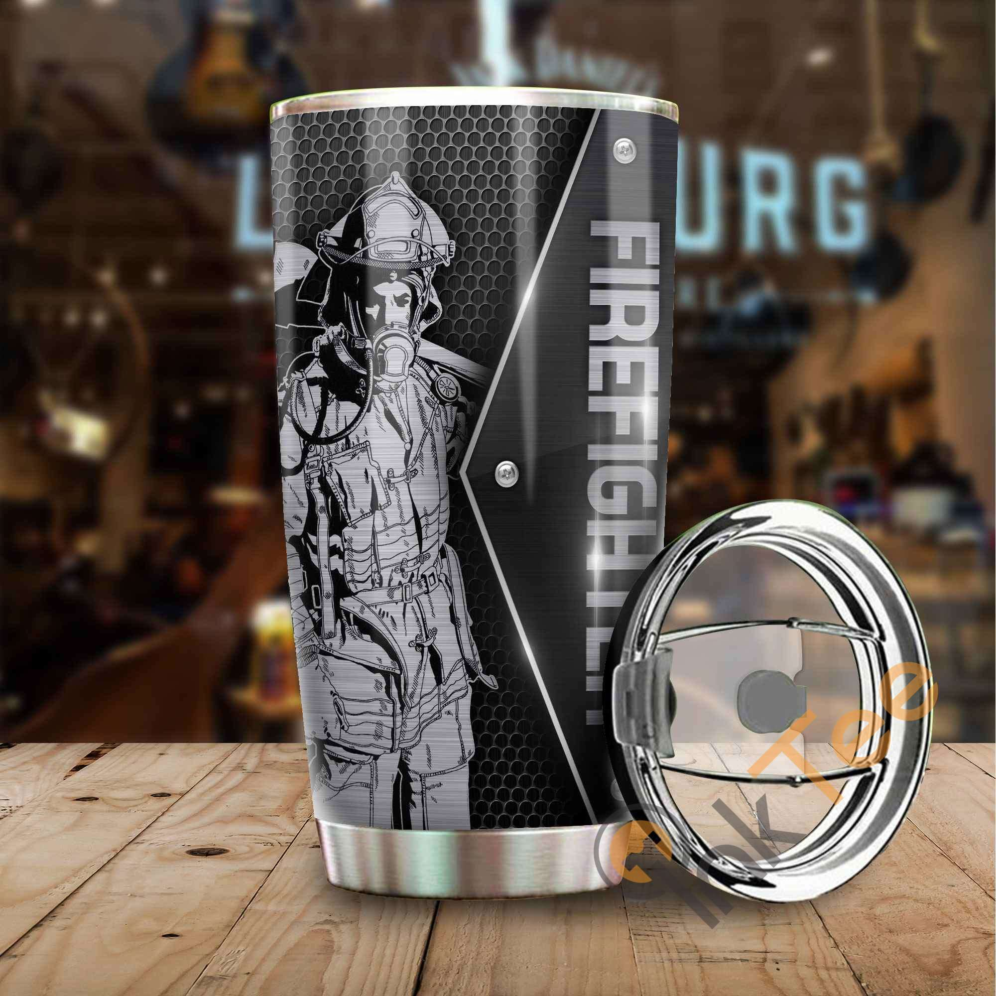 Firefighter Metal Amazon Best Seller Sku 3850 Stainless Steel Tumbler
