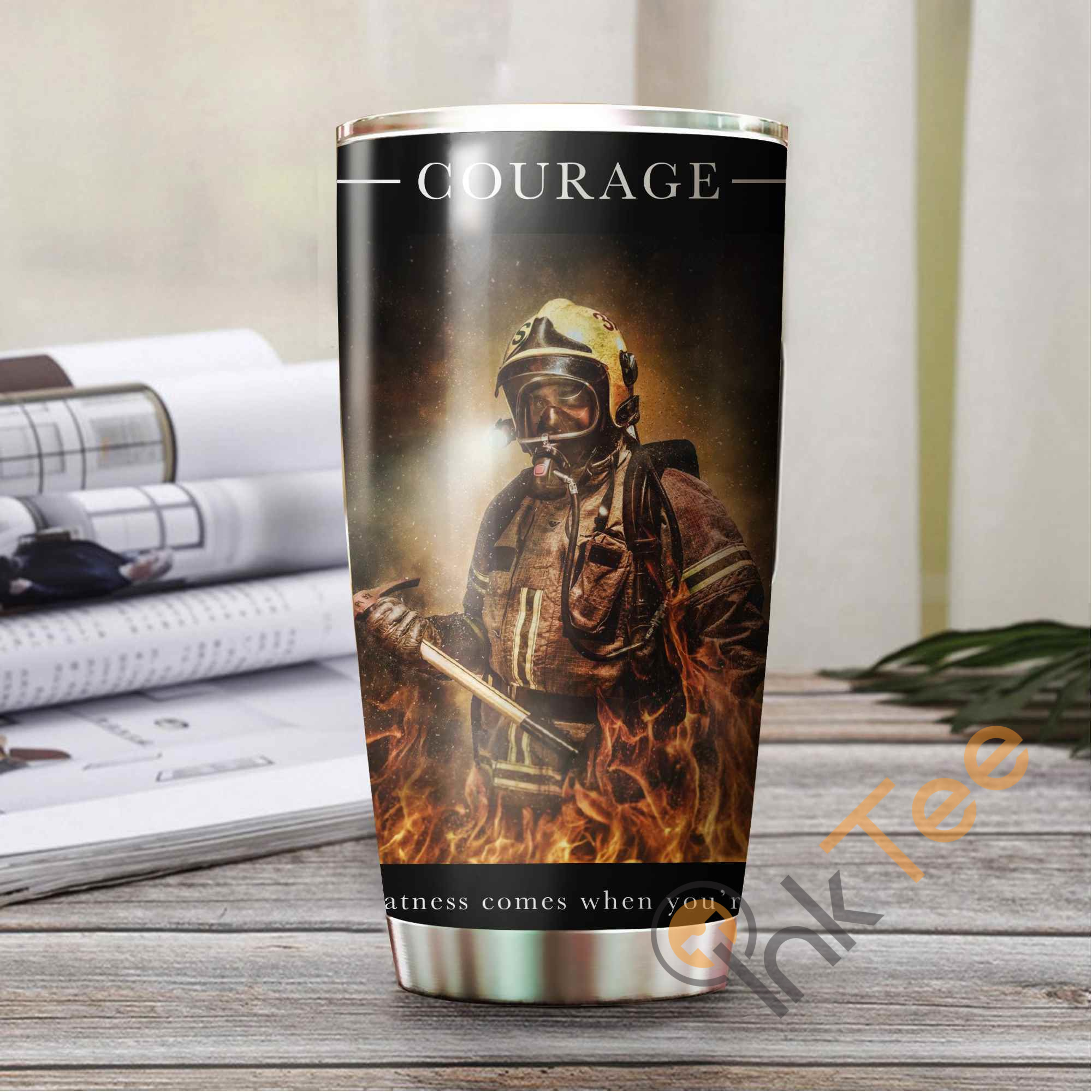 Firefighter's Courage Amazon Best Seller Sku 3028 Stainless Steel Tumbler