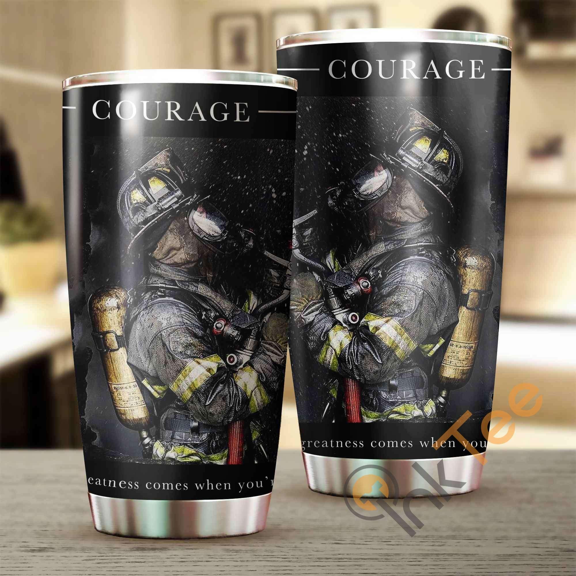 Firefighter's Courage Amazon Best Seller Sku 3071 Stainless Steel Tumbler