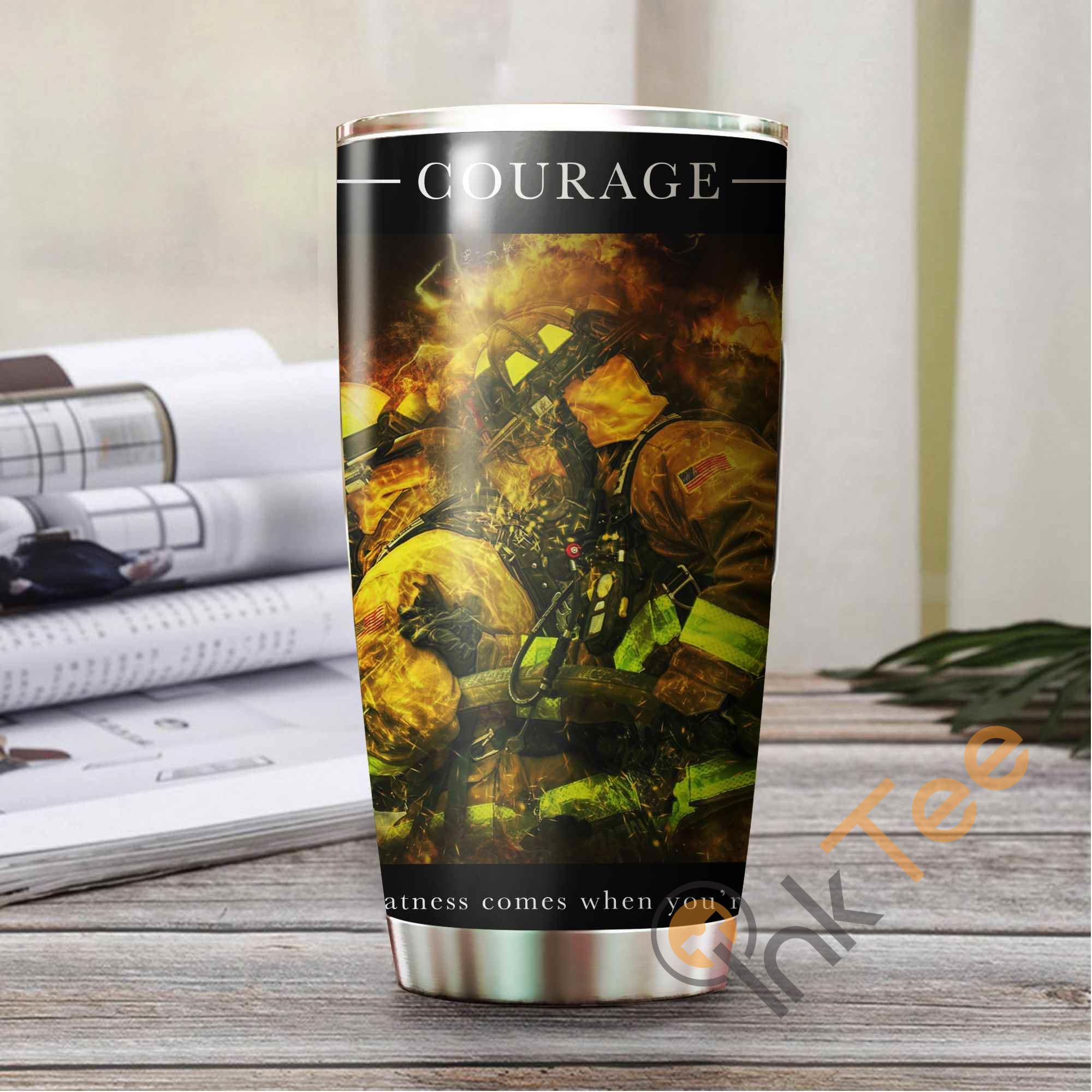 Firefighter's Courage Amazon Best Seller Sku 3078 Stainless Steel Tumbler