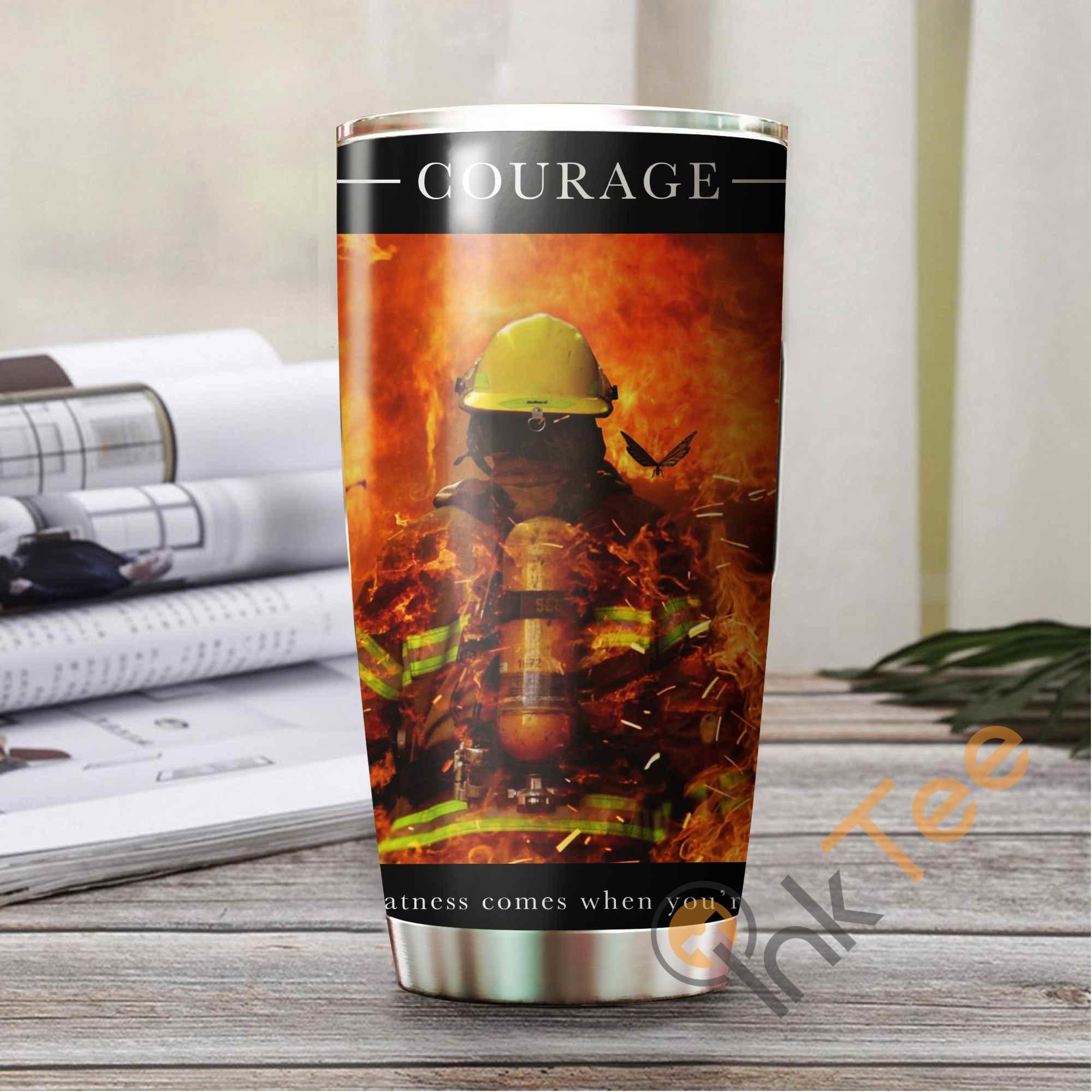 Firefighter's Courage Amazon Best Seller Sku 3495 Stainless Steel Tumbler