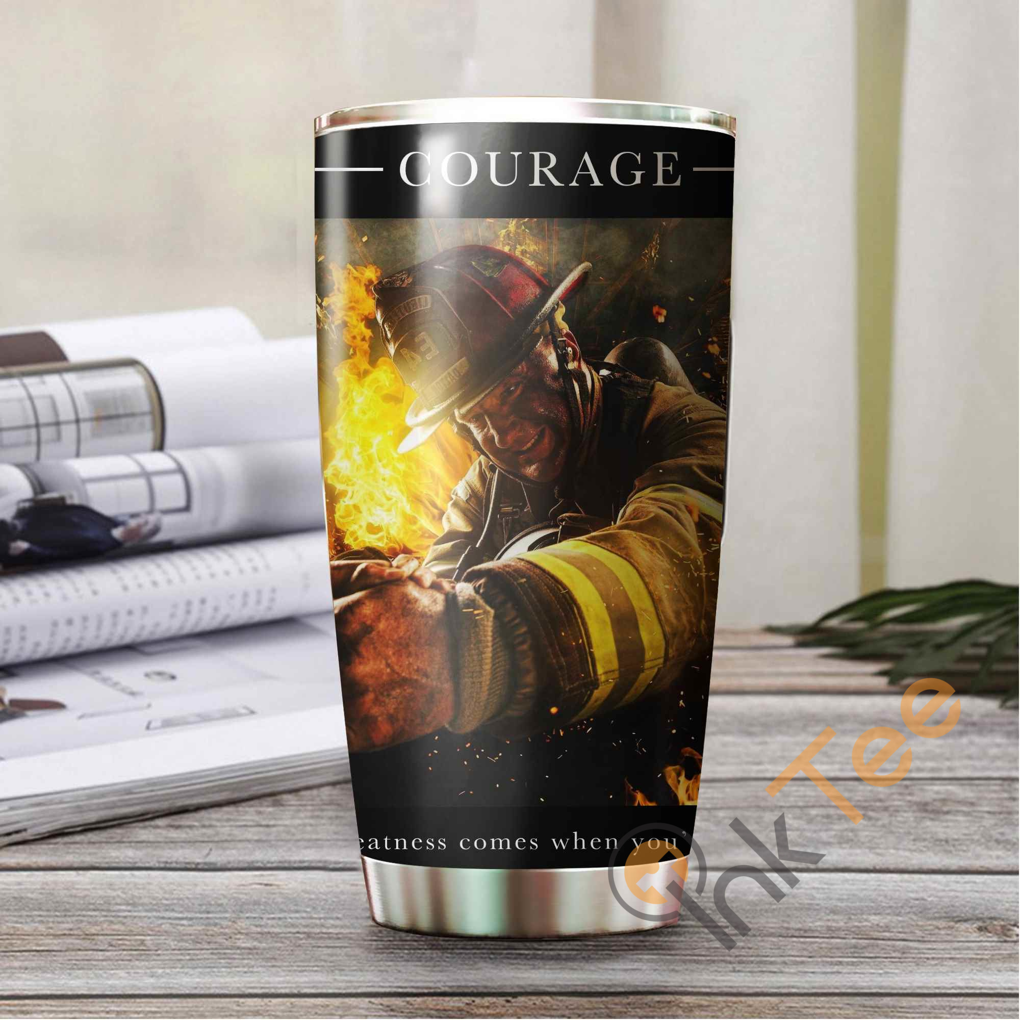 Firefighter's Courage Amazon Best Seller Sku 3745 Stainless Steel Tumbler