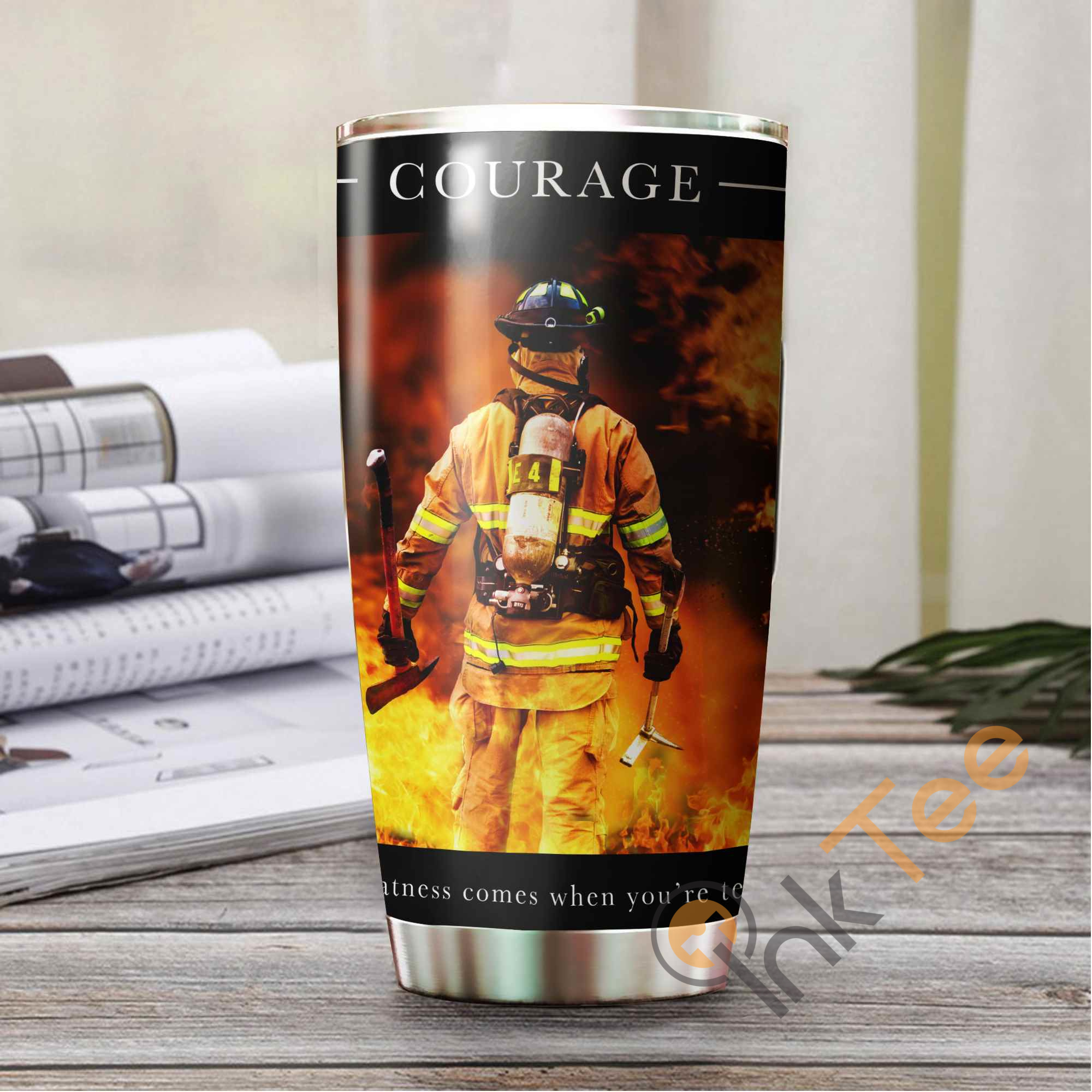Firefighter's Courage Stainless Steel Tumbler