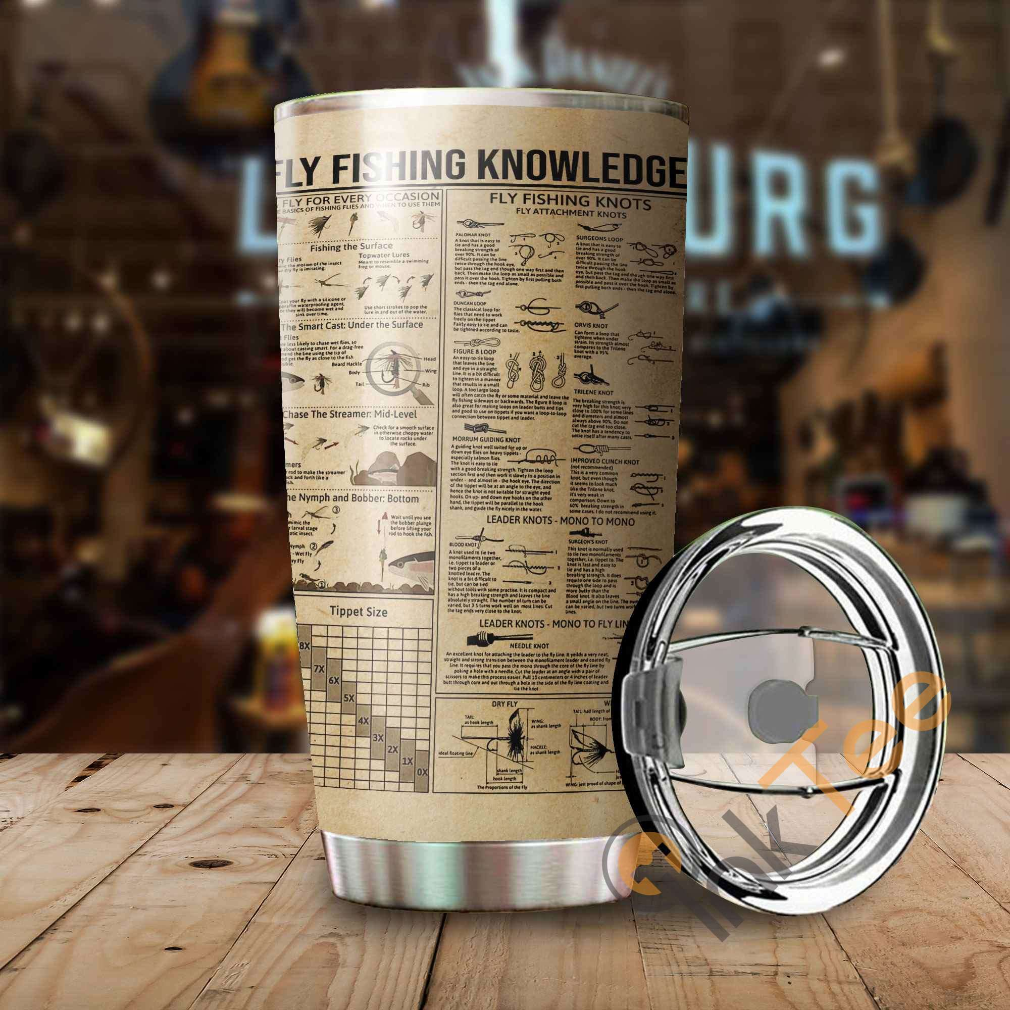 Fishing Knowledge Stainless Steel Tumbler