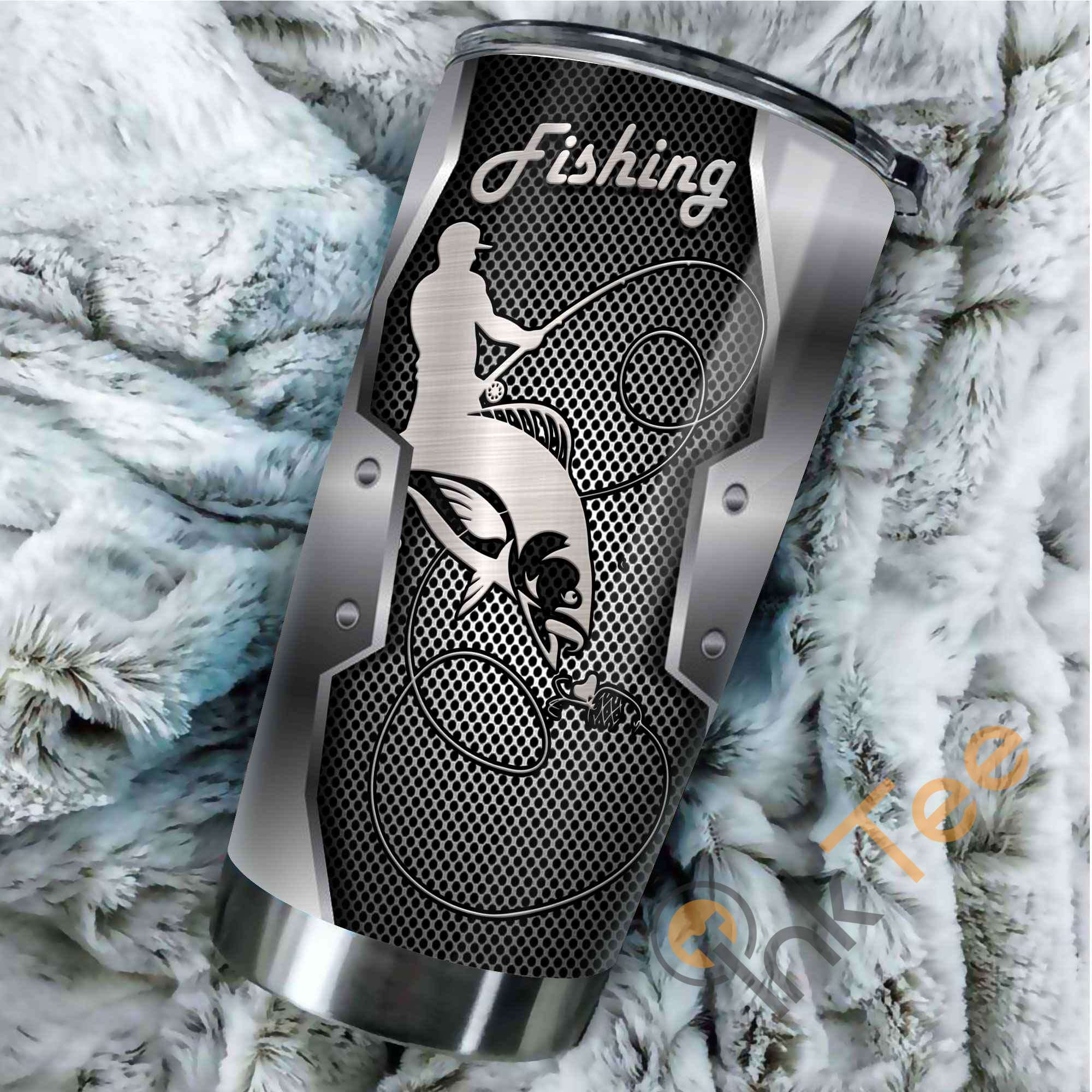 Fishing Metal Amazon Best Seller Sku 2591 Stainless Steel Tumbler