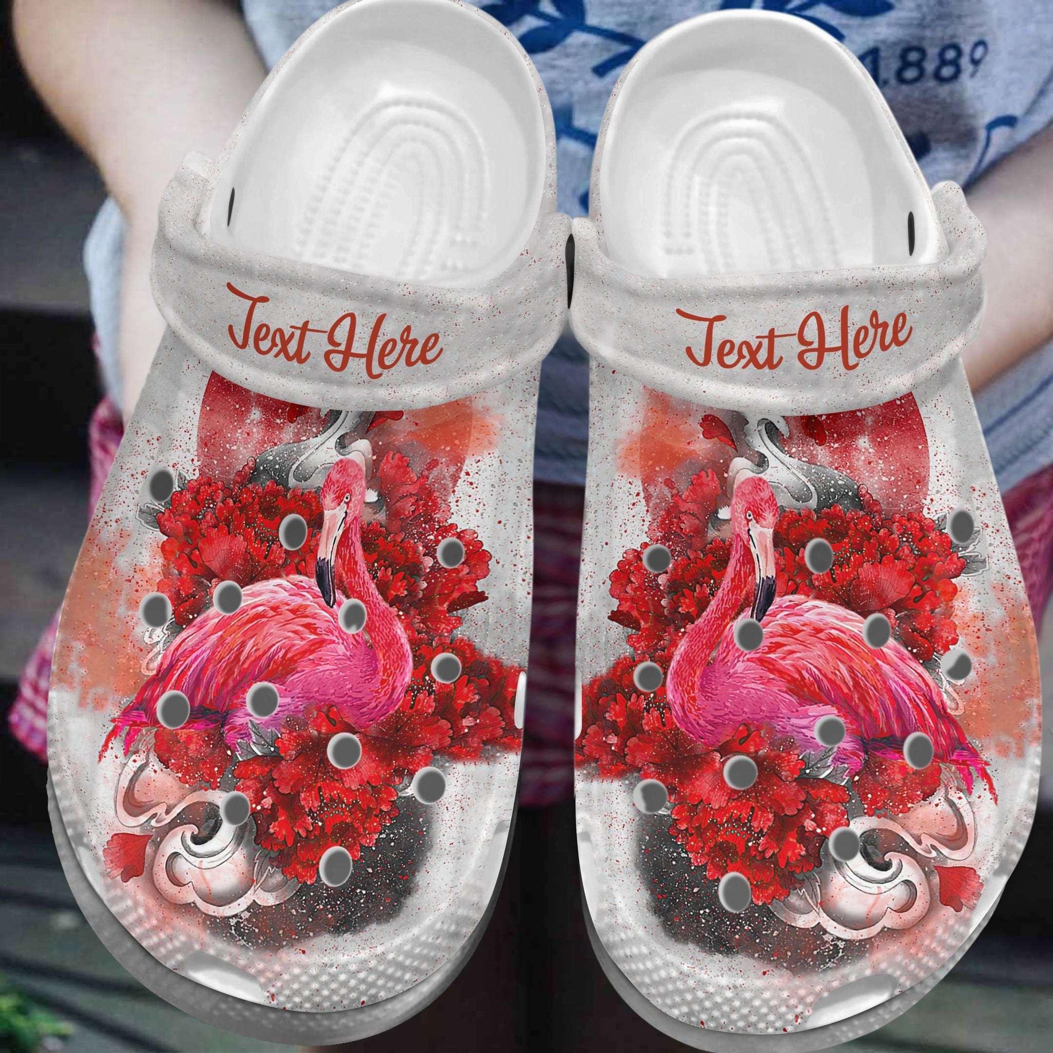 Flamingo Personalized Graceful Crocs Clog Shoes