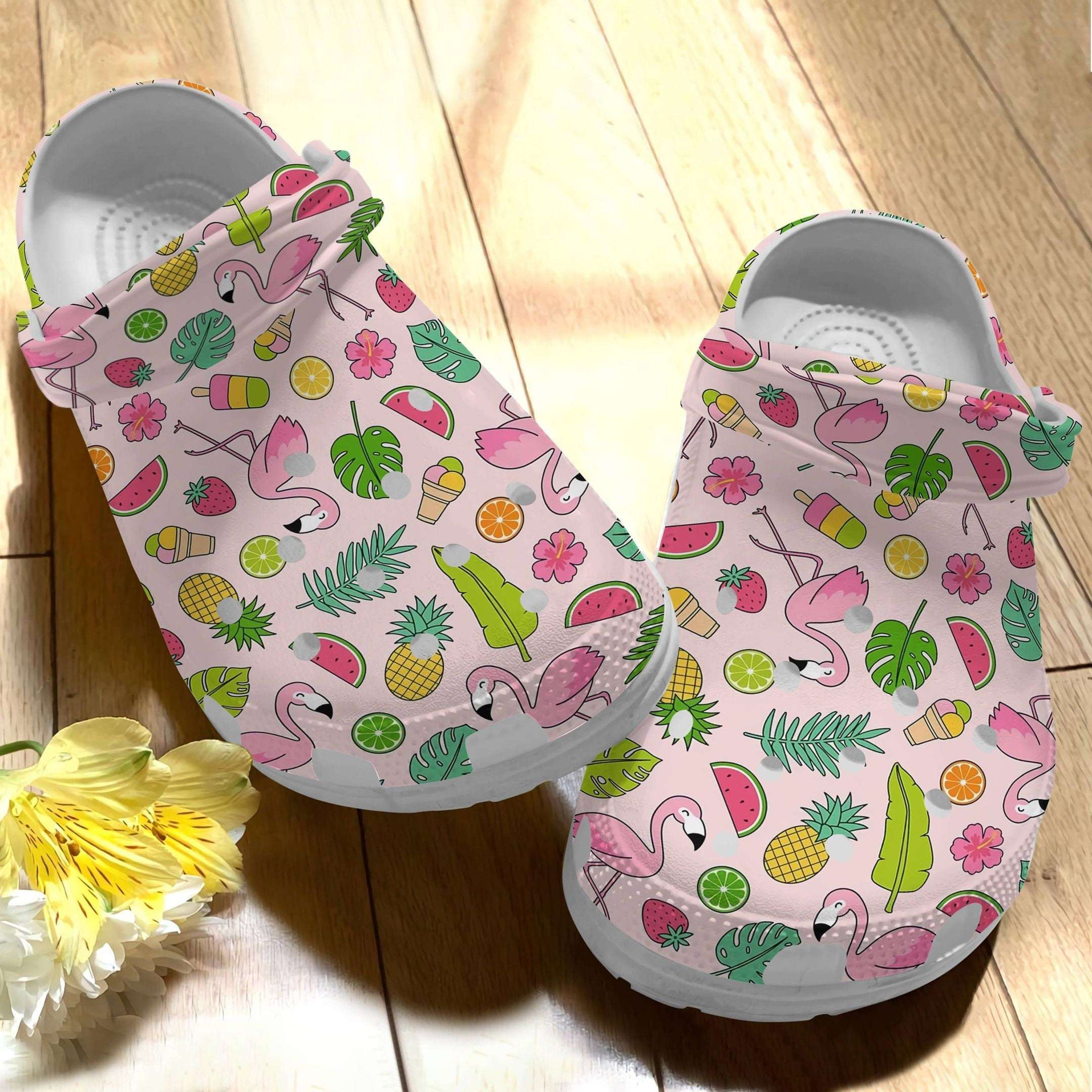 Flamingo Summer Vibes Crocs Clog Shoes