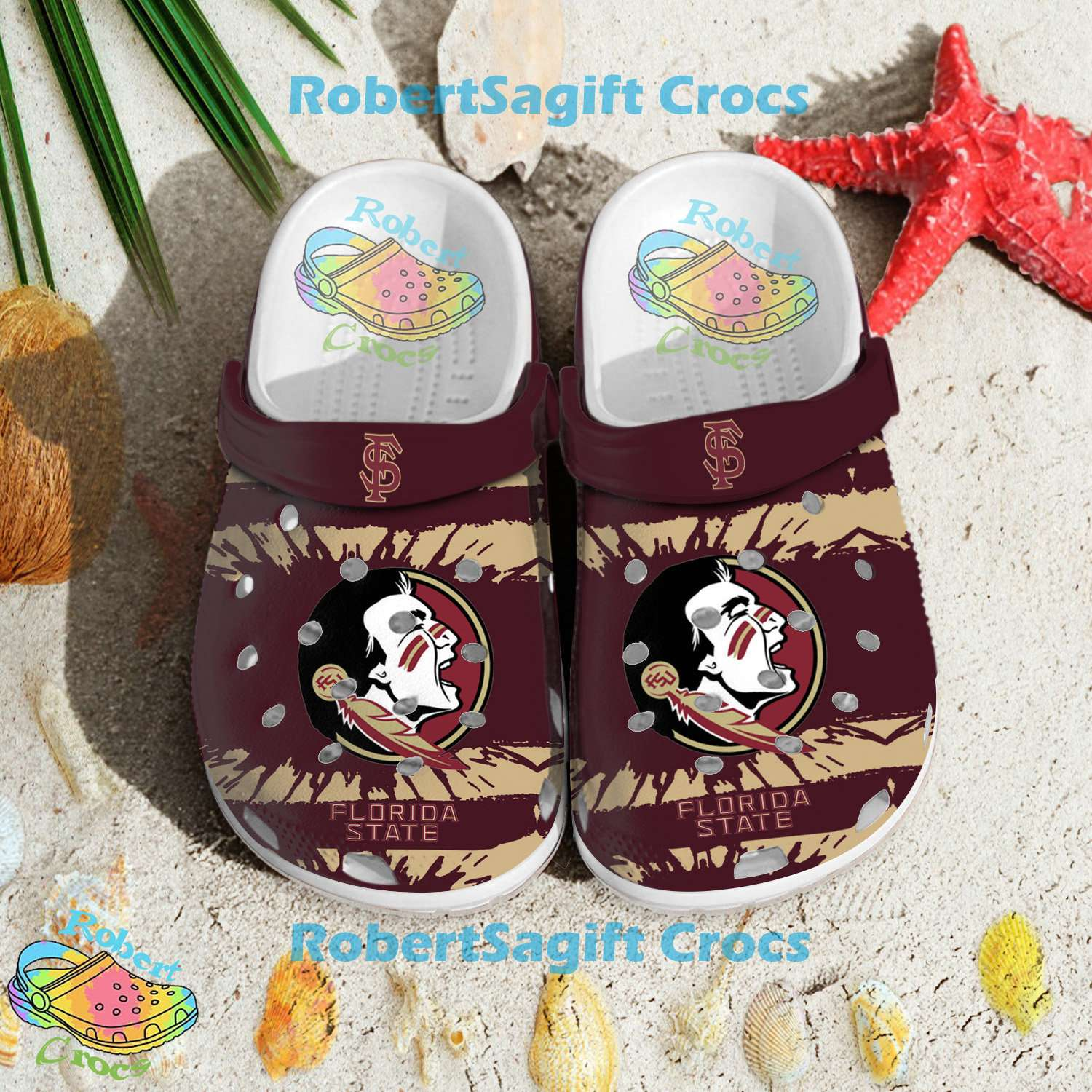 Florida State Seminoles Football Crocs Clog Shoes