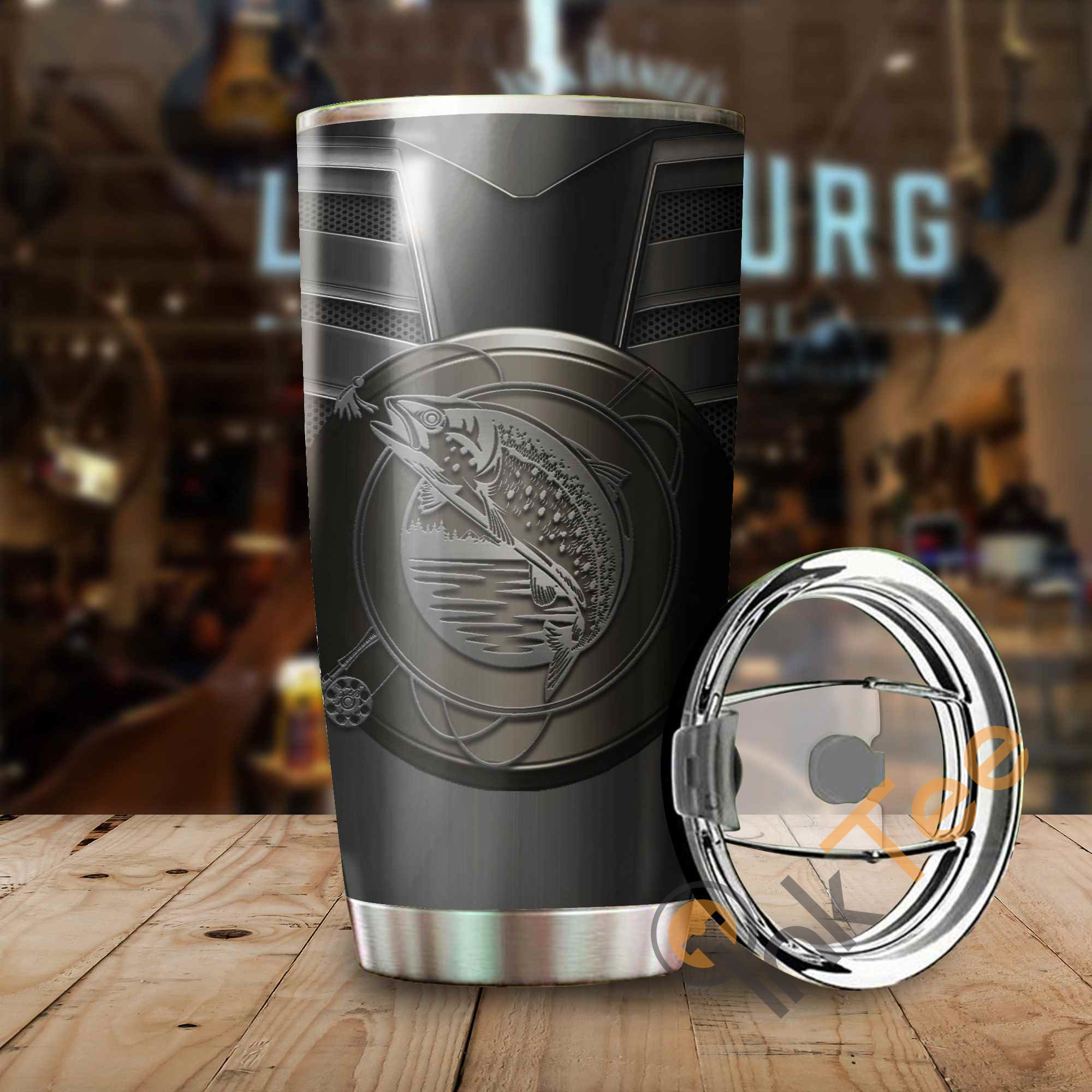 Fly Fishing Logo Metal Stainless Steel Tumbler