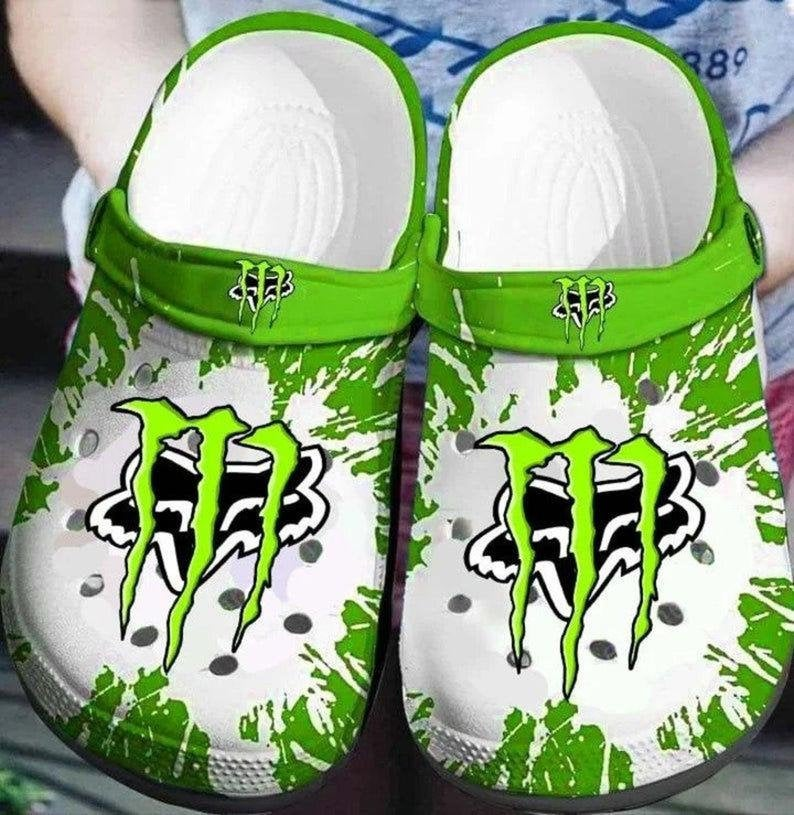 Fox Racing Monster Energy Comfortable For Mens And Womens Classic Water Crocs Clog Shoes