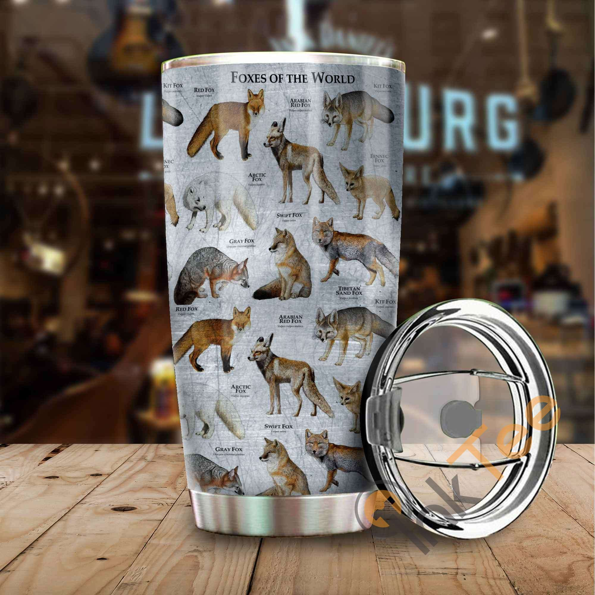 Foxes Of The World Stainless Steel Tumbler