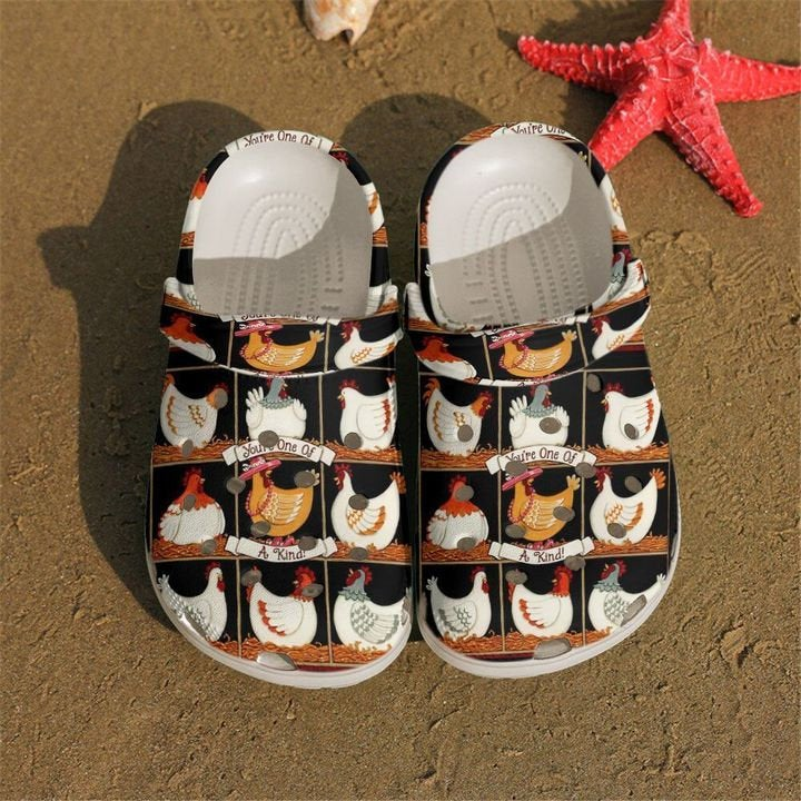 Funny Chickens Pattern Crocs Clog Shoes