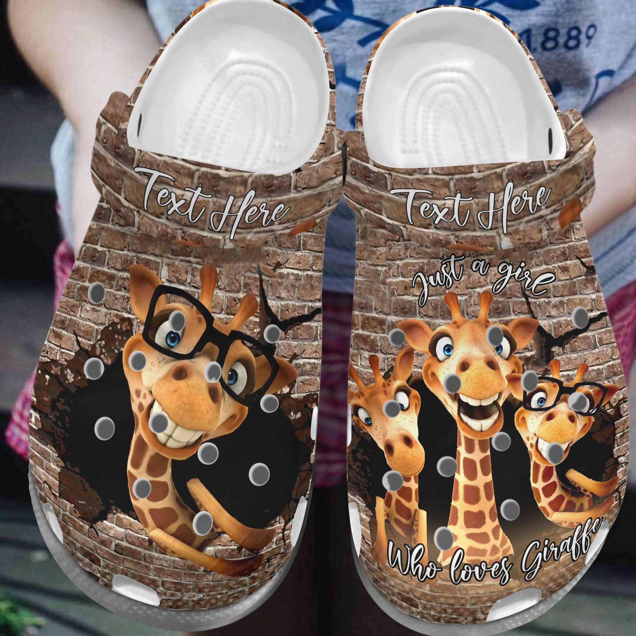 Giraffe Just A Girl Who Loves Crocs Clog Shoes