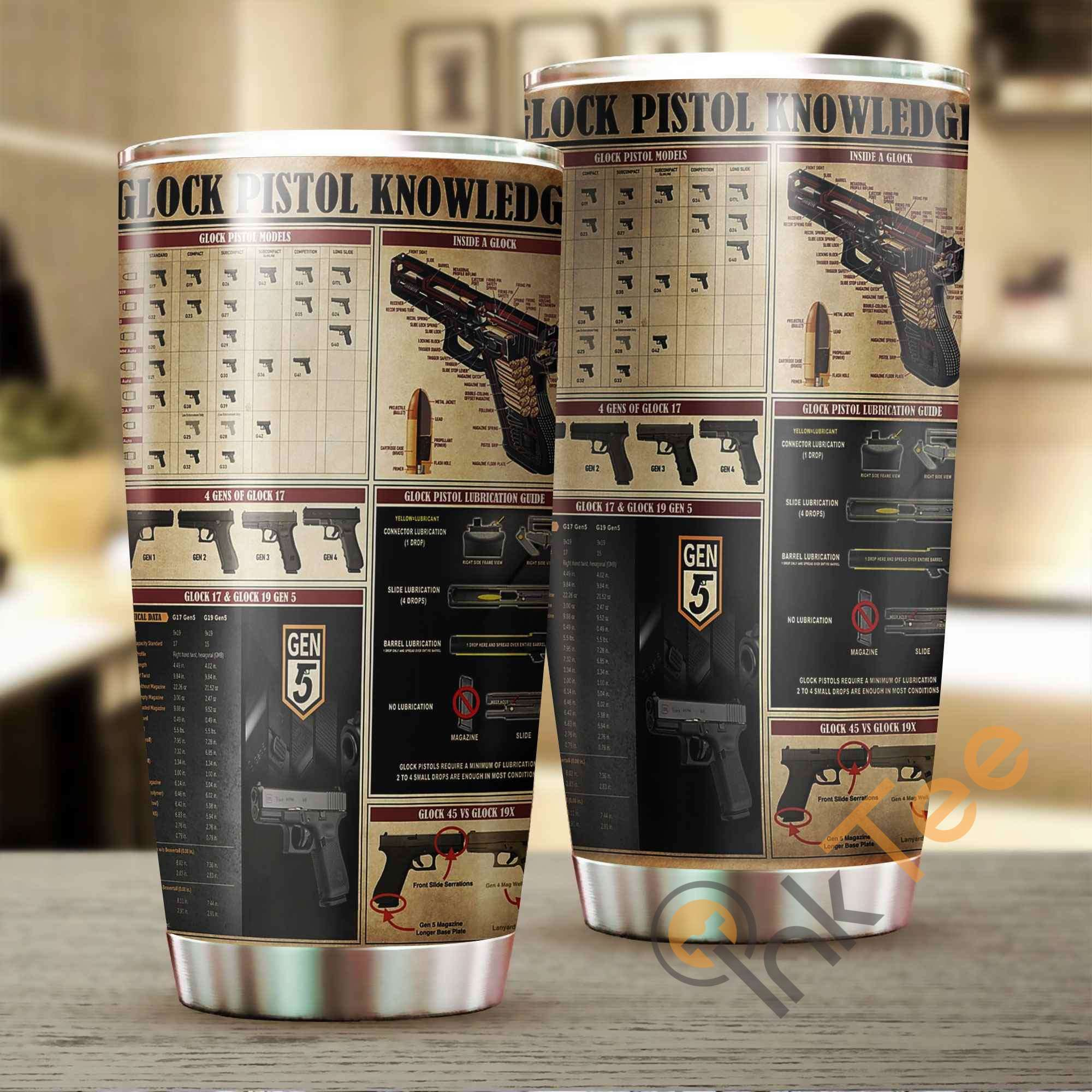 Glock Pistol Knowledge Amazon Best Seller Sku 2882 Stainless Steel Tumbler