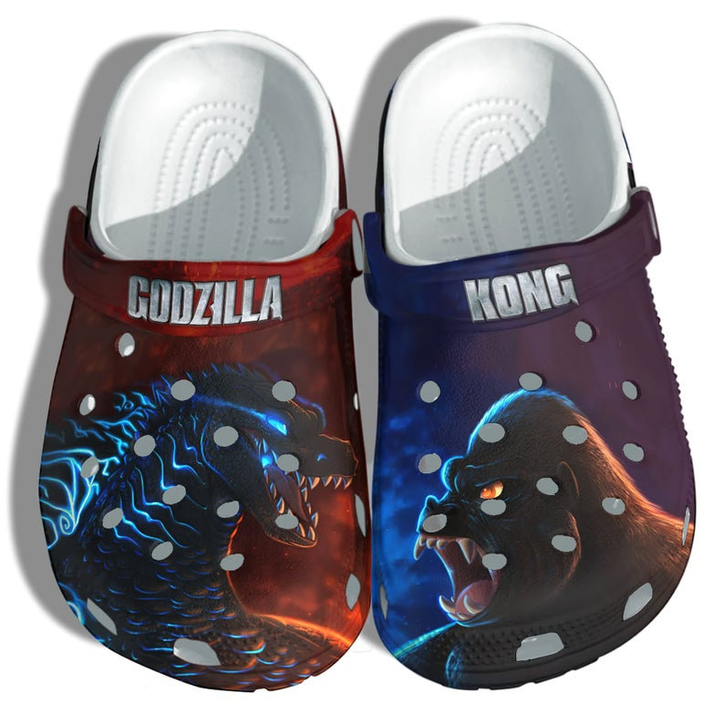 Godzilla Kong Monster Crocs Clog Shoes
