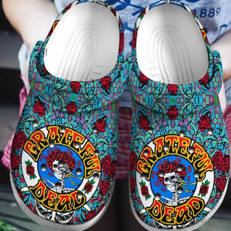 Grateful Dead Crocs Clog Shoes